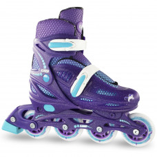 Crazy 148 Adjustable Inline Skate - Purple Glitter