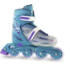 Crazy 148 Adjustable Inline Skate - Teal Glitter