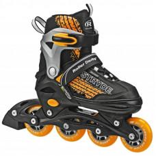Stryde Orange/Black Adjustable Inline Skates